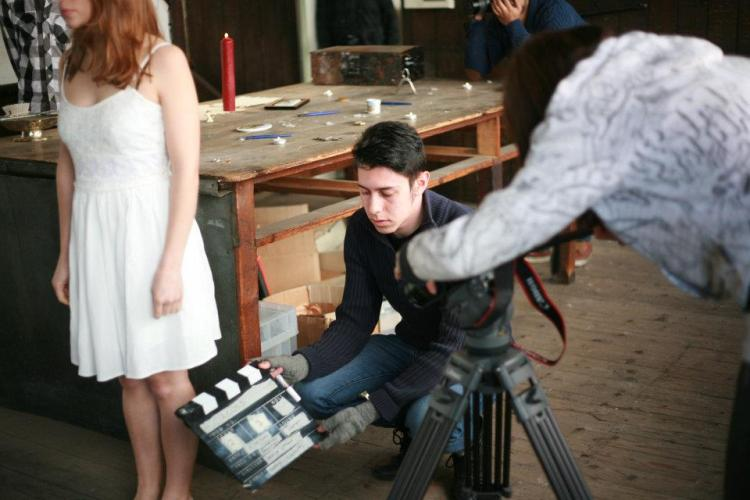 With Clapper Board